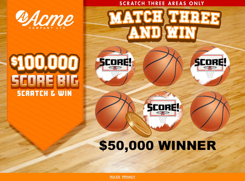 Basketball Scratch and Win Game