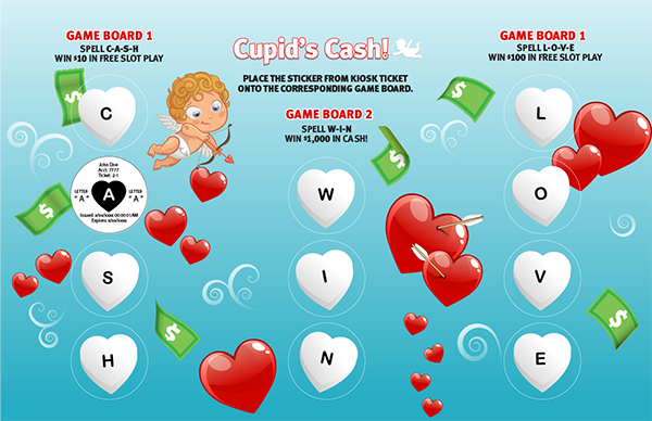 Cupids Cash Collect & Win Game