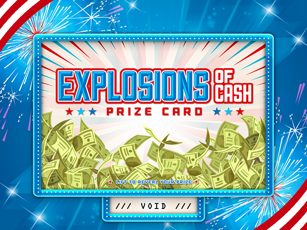 Explosions of Cash Pull-Tab Card