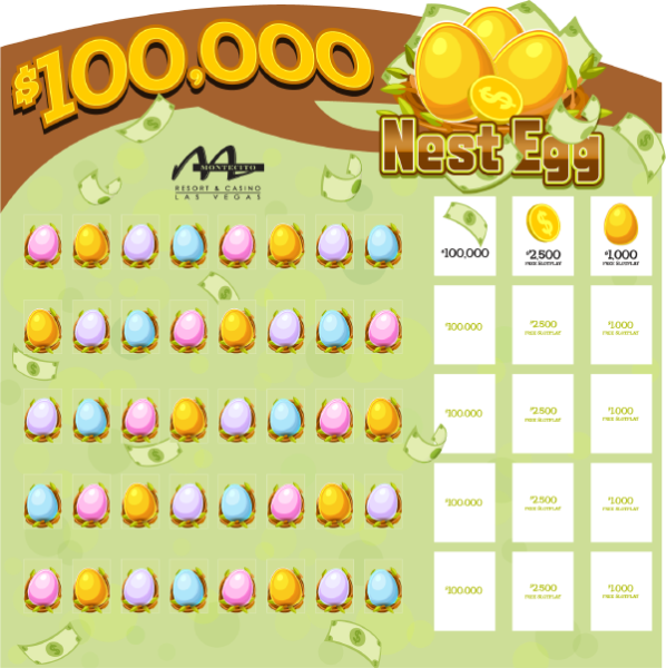 100K Nest Egg Game Board
