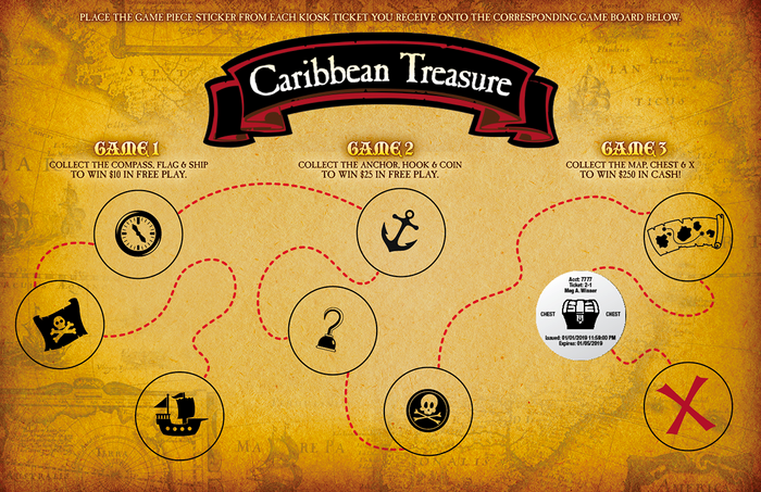Caribbean Treasure Collect & Win Game