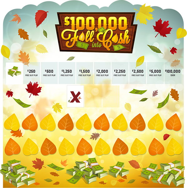 Fall Into Cash 8x8 Game Board