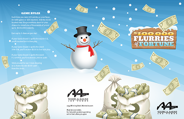 Flurries of Fortune Collect & Win Game