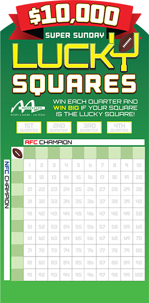 Lucky Squares Game Board