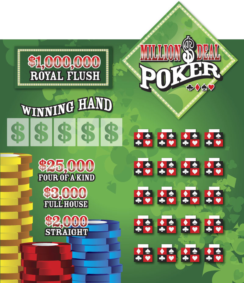 Million Dollar Poker Deal Game Board