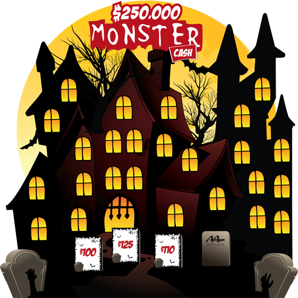 Monster Cash Haunted House Game Board