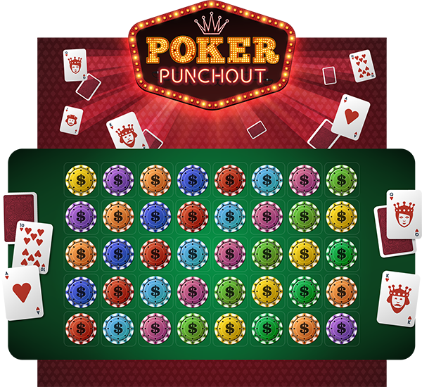 Poker Punchout Game Board