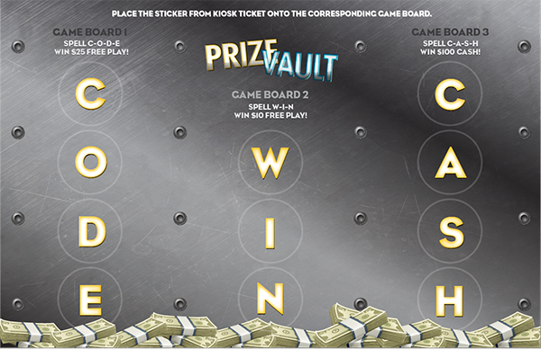 Prize Vault Collect & Win Game