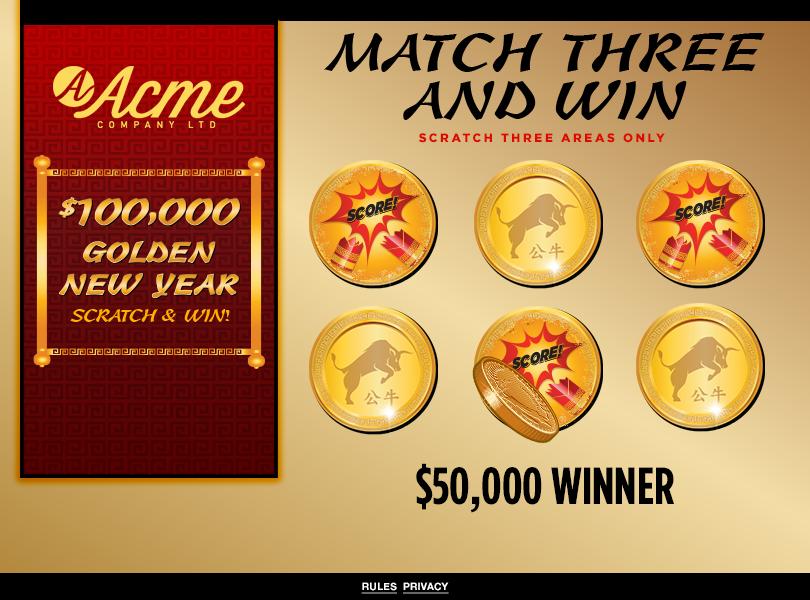 Lunar New Year Scratch & Win Game