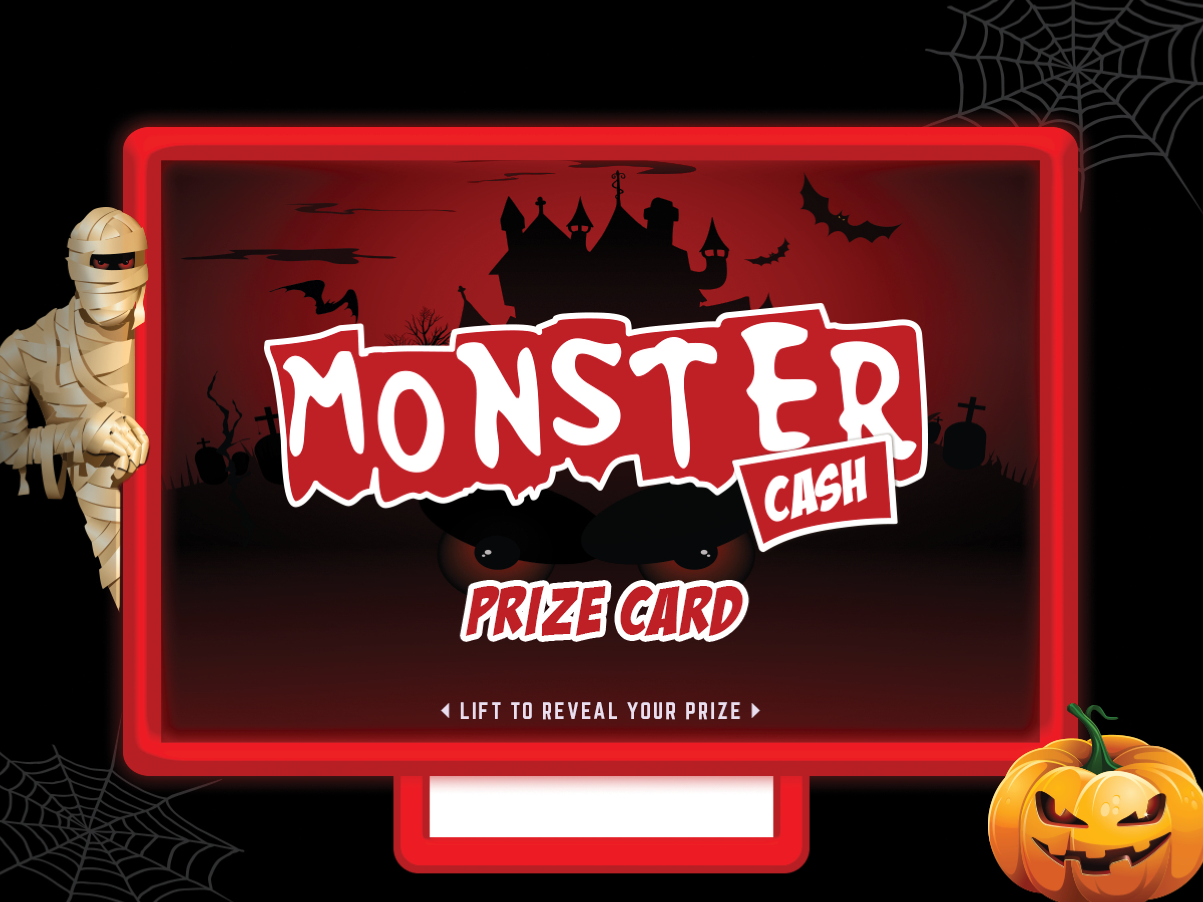 Monster Cash Pull-Tab Card