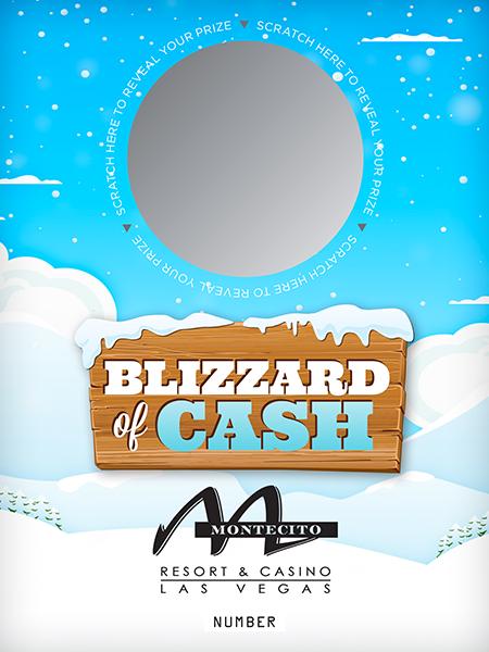 Blizzard of Cash Custom Scratch Card