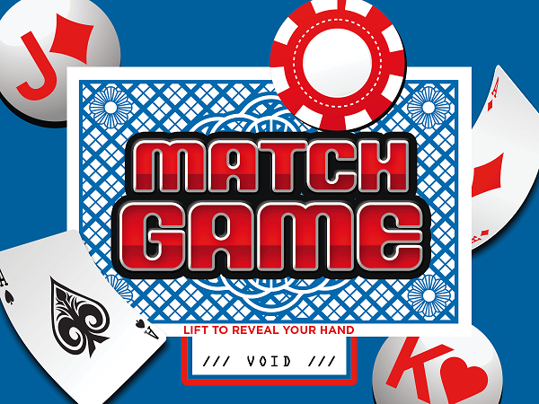 Match Game Pull-Tab Card