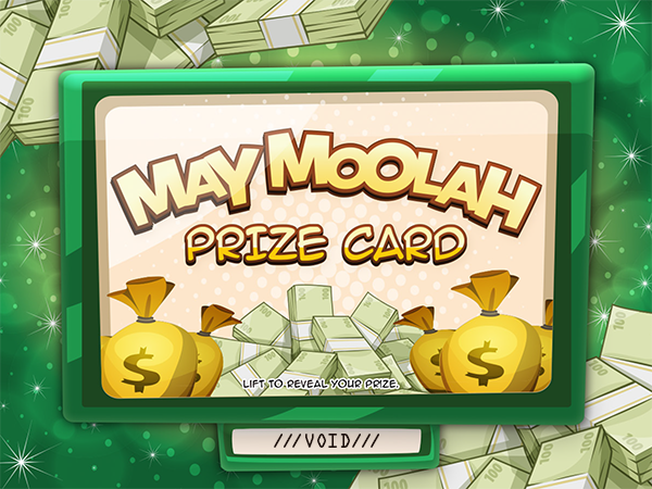 May Moolah Pull-Tab Card