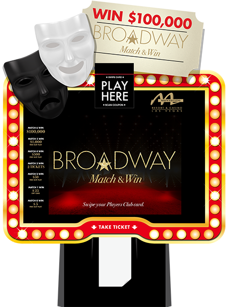 Broadway Match and Win Lite Kiosk