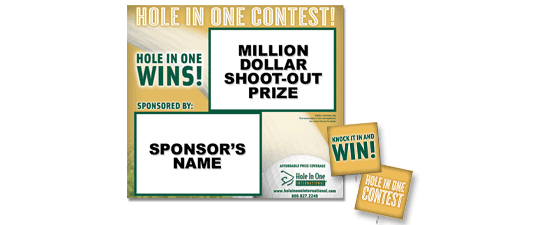 Million Dollar Shoot-Out Contest Sign