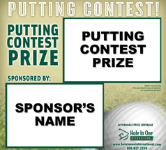 Putting Contest Sign