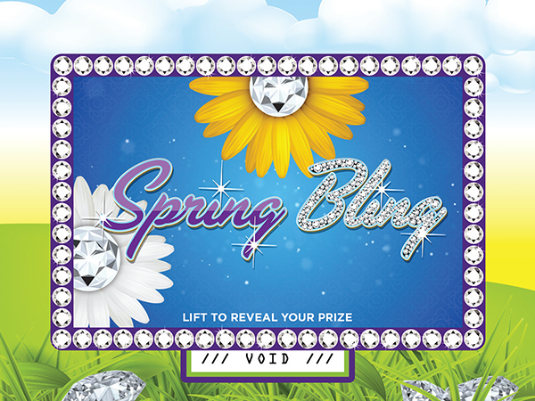 Spring Bling Pull-Tab Card