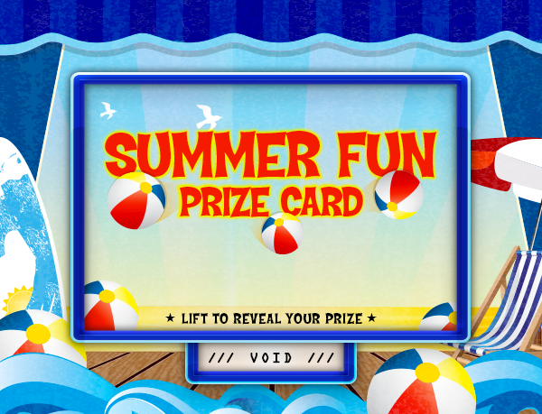 Summer Fun Pull-Tab Card