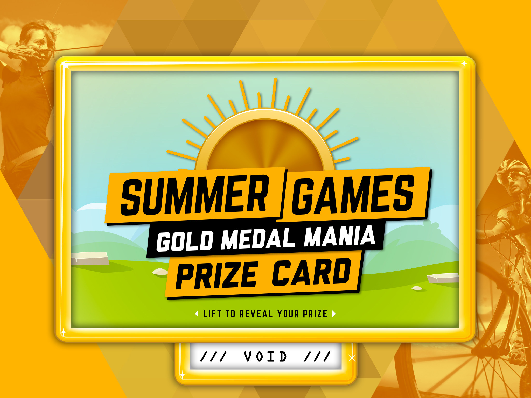 Summer Games Pull-Tab Card