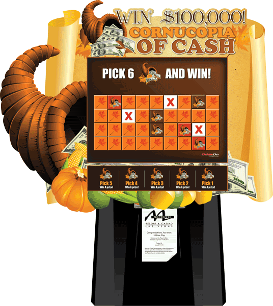 Cornucopia of Cash Video Scratch and Win