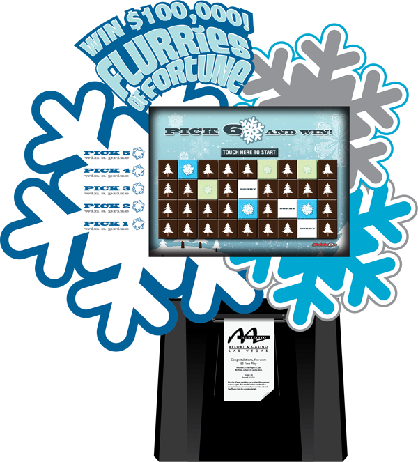 Flurries of Fortune Lite Kiosk