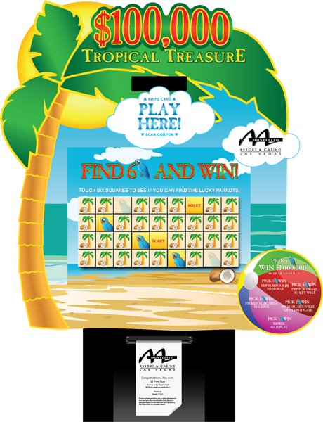 Tropical Treasure Kiosk Promotion