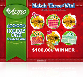 Holiday Scratch & Win Web Game