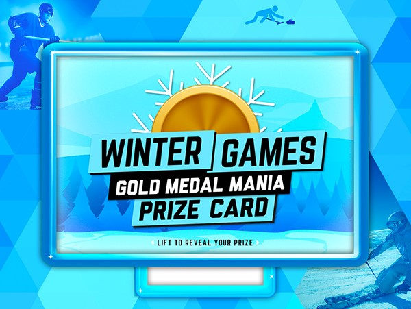 Winter Games Pull-Tab Card
