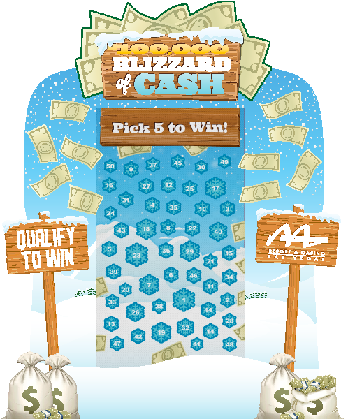Blizzard of Cash electronic Game Board Promotion