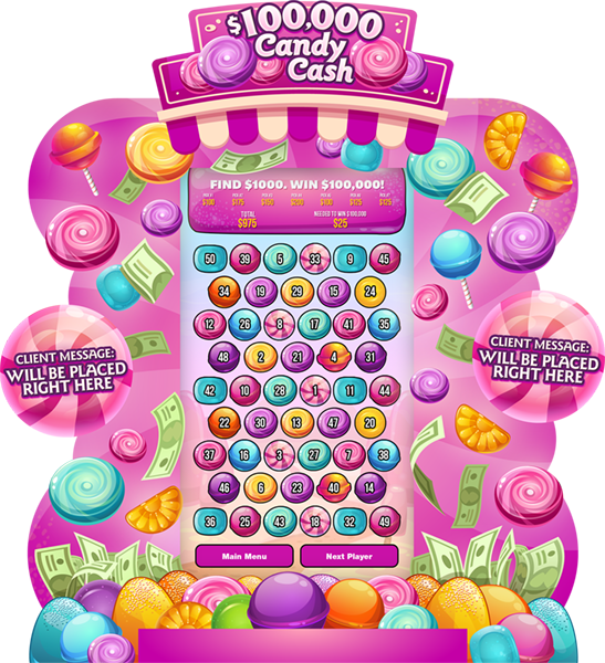 Candy Cash 80-inch e-Game Board