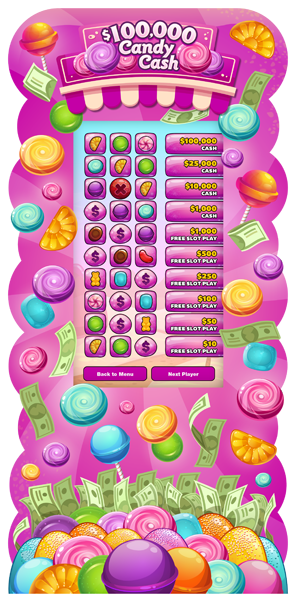 Candy Cash 50-inch e-Game Board - LEVELS