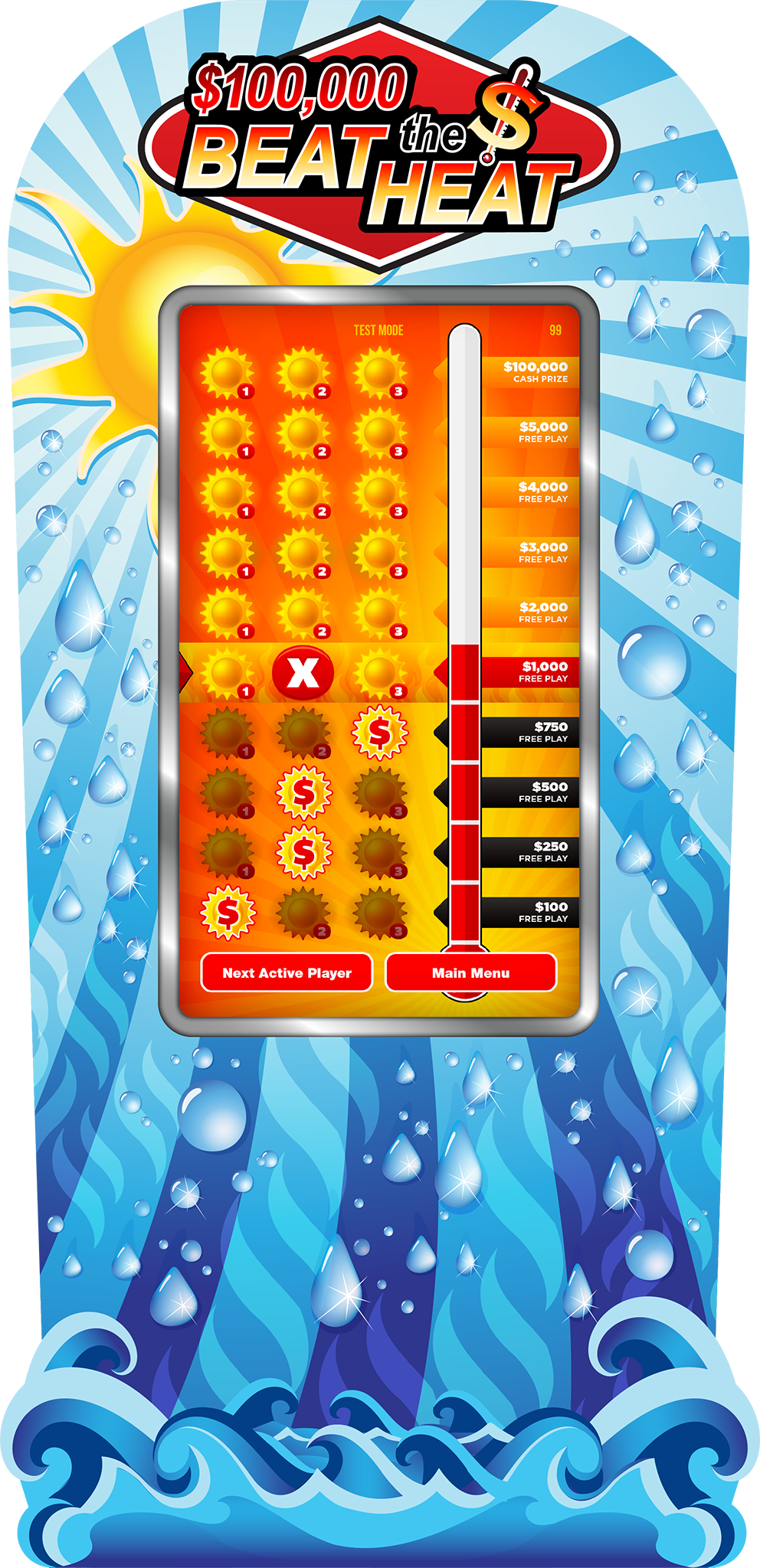 Beat the Heat 50-inch e-Game Board