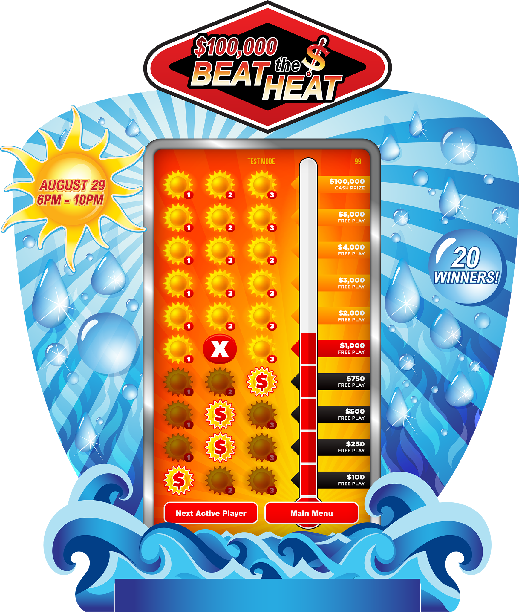 Beat the Heat 80-inch e-Game Board
