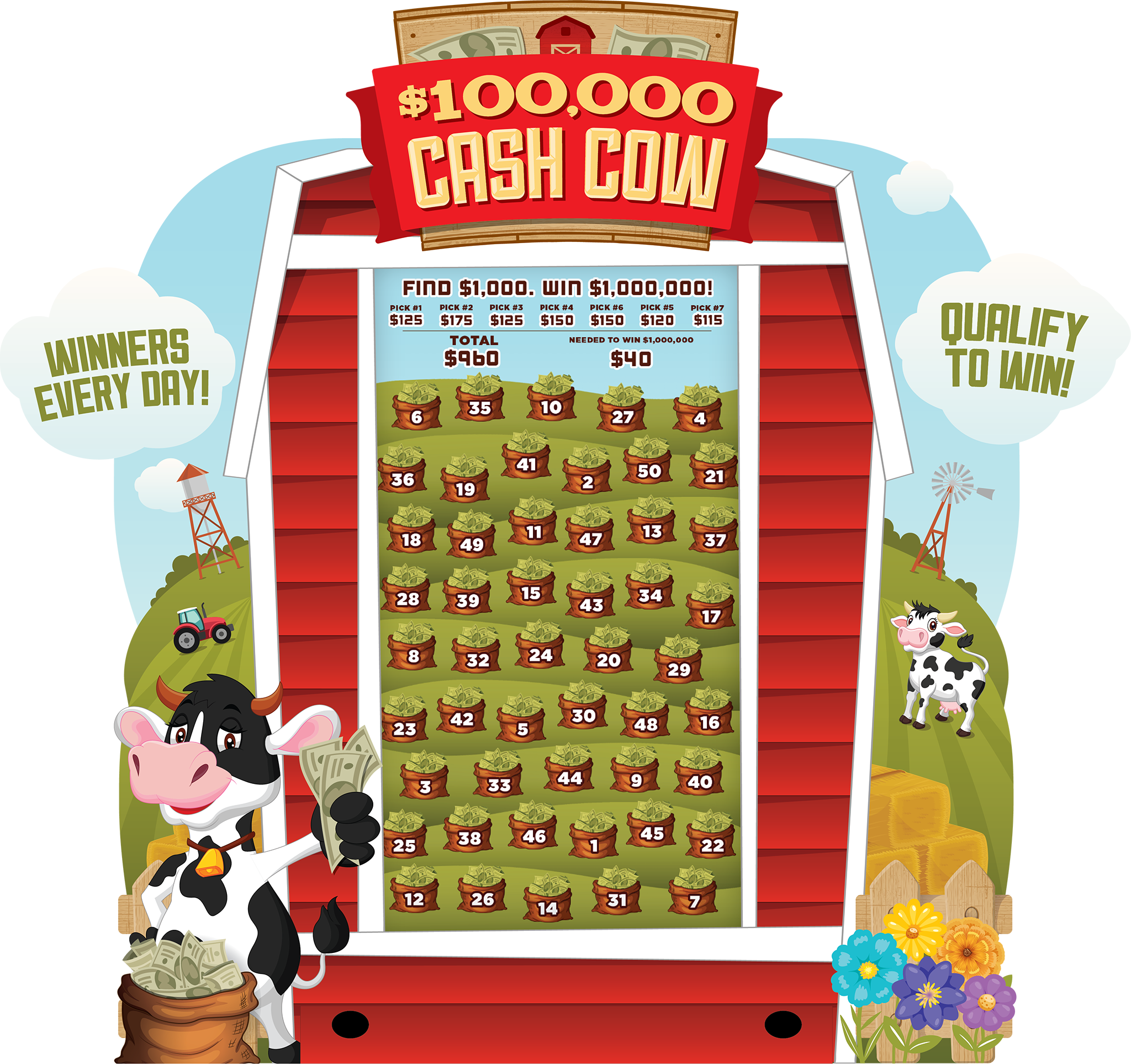 Cash Cow e-Game Board