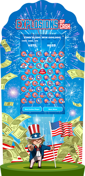 Explosion of Cash e-Game Board