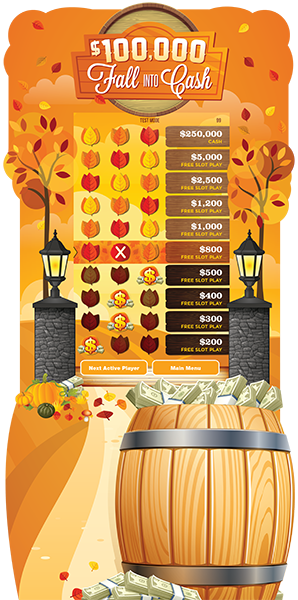 Fall Into Cash electronic-Game Board Promotion