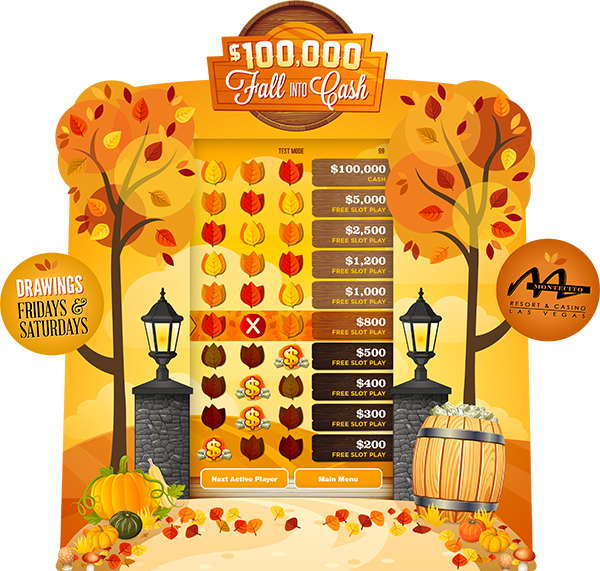 Fall Into Cash e-Game Board