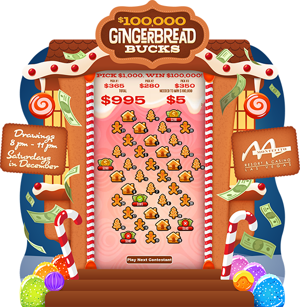 Gingerbread Bucks 80-in e-Game Board