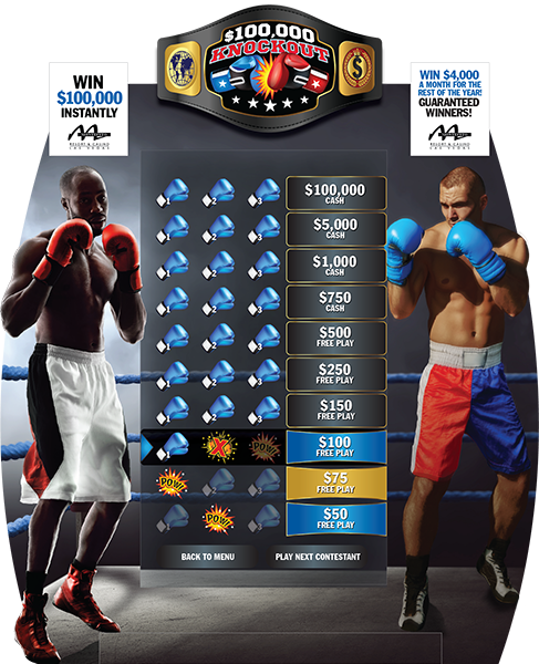 Boxing Knockout e-Game Board