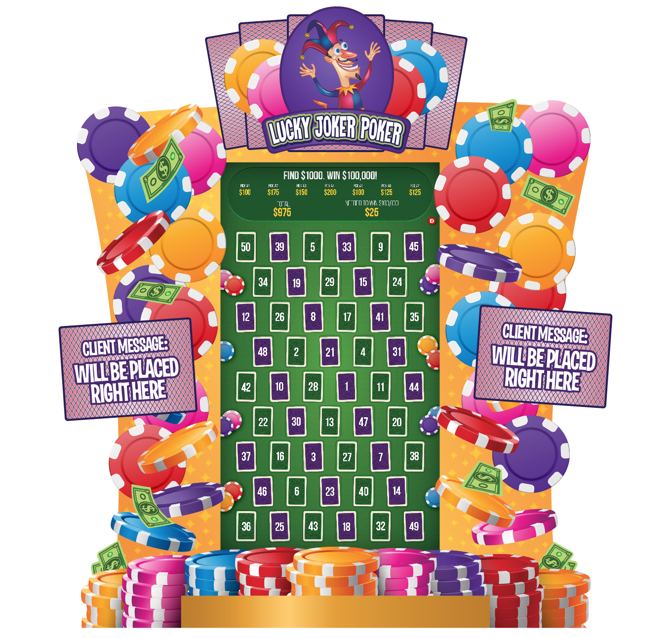 Lucky Joker Poker 80-in e-Game Board