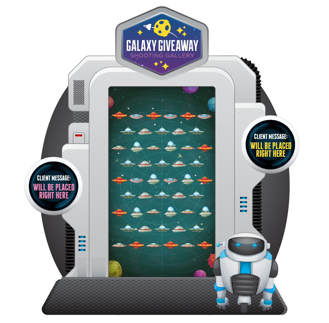 Shooting Gallery Spaceships e-Game Board