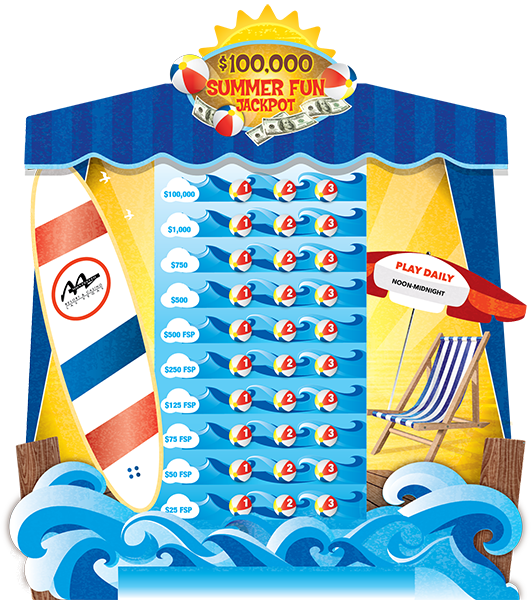 Summer Fun Jackpot e-Game Board