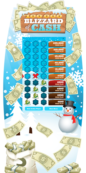 Blizzard of Cash Levels  e-Game Board