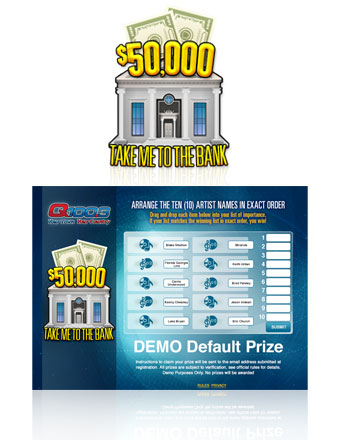 Online Instant Win Promotion