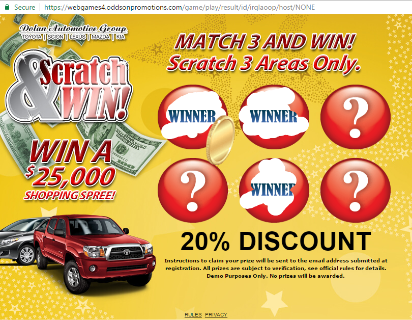 Instant Win Promotion | Online Promotional Games | Online