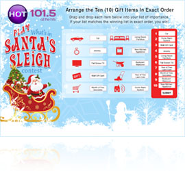 Santa's Sleigh Lucky List Web Game