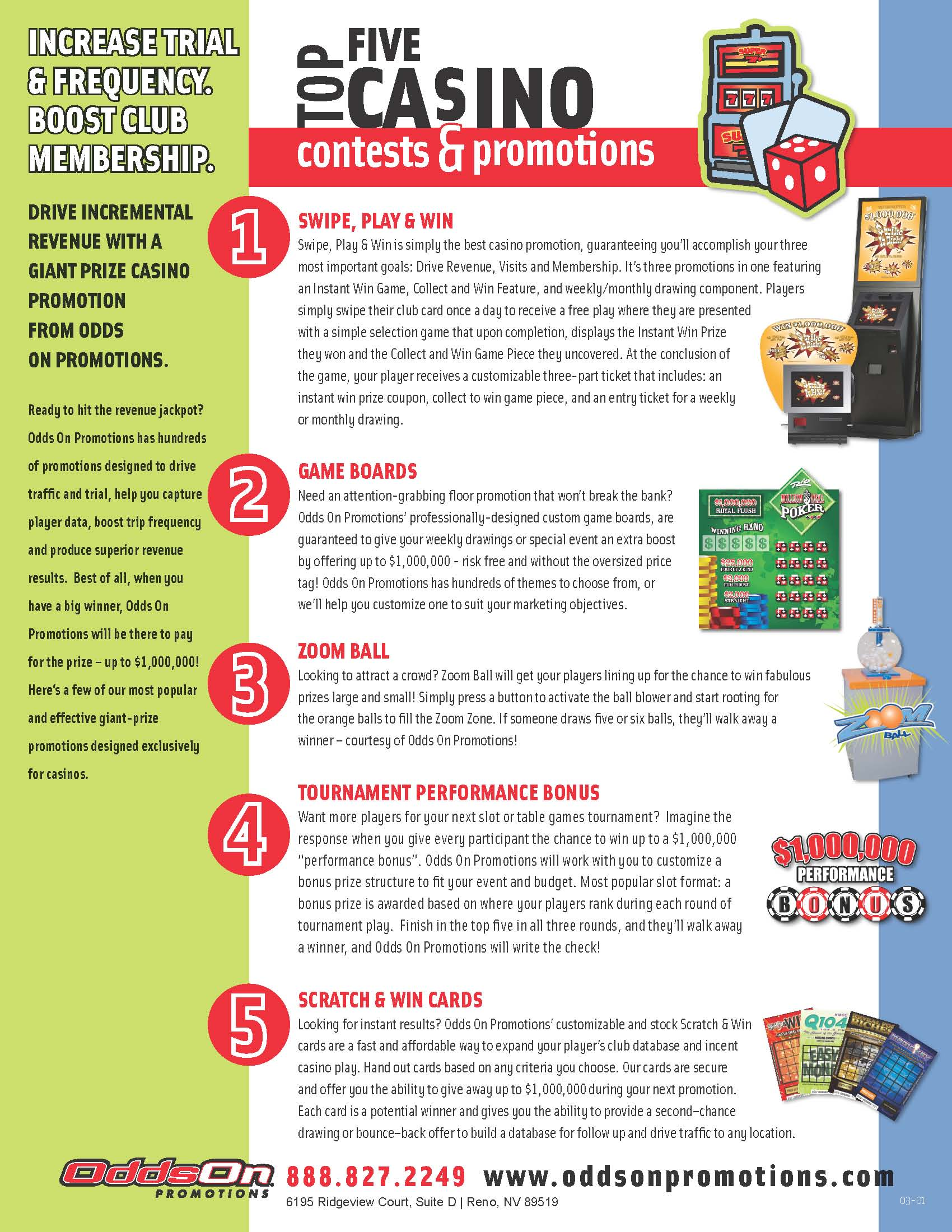 Poker machine promotions ideas