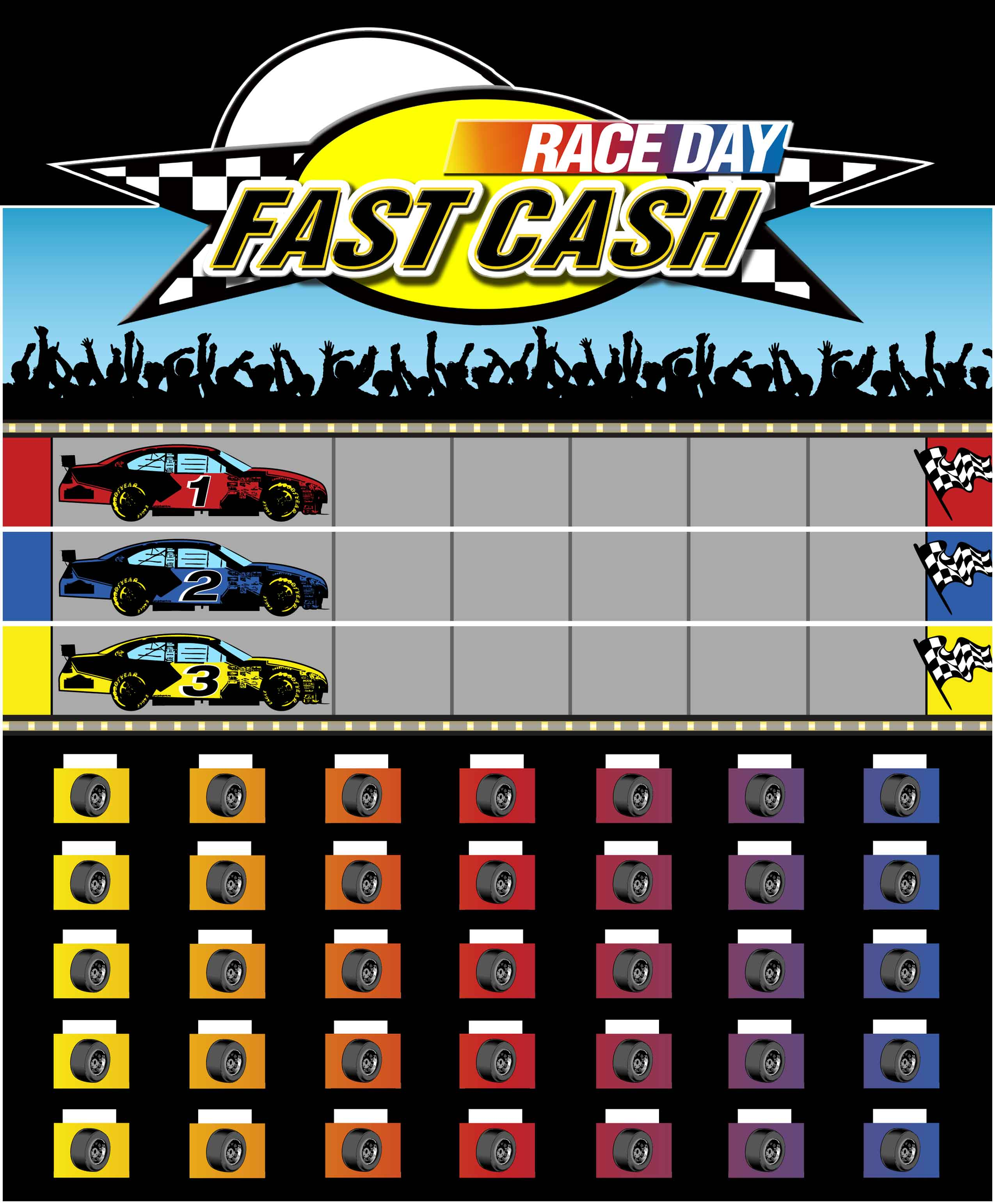 Race Day Fast Cash Game Board Nascar Promotion