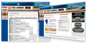 online basketball bracket promotion
