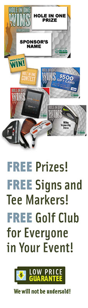 golf tournament sponsorship - hole in one insurance